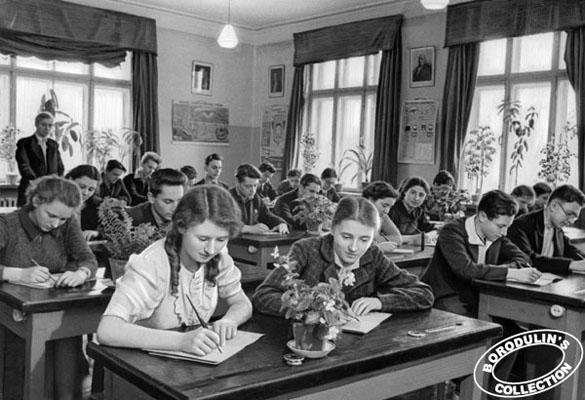 школа во время войны